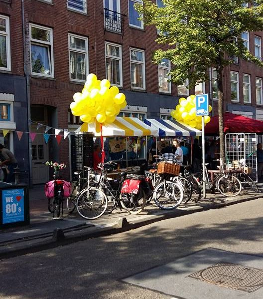 losse helium ballonnen geel